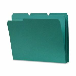 Smead 13134 Teal Colored File Folders With Reinforced Tab Letter smd13134