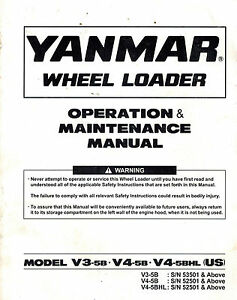 Yanmar V3 5b V4 5b And V4 5bhl Wheel Loader Operation And Maintenance Manual