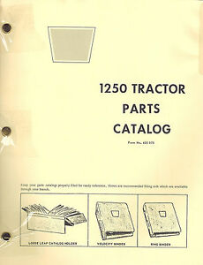 Oliver Cockshutt 1250 Tractor Parts Manual 433075 1968