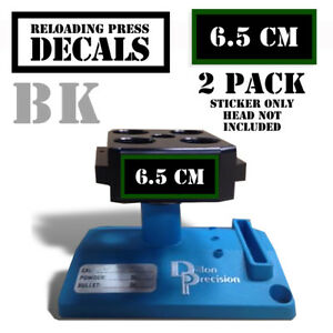 6.5 CM Reloading Press Decals Ammo Labels 1.95