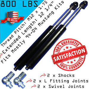 2 Mustang Bolt On Lambo Vertical Door Kit Shocks With Ends 800lbs