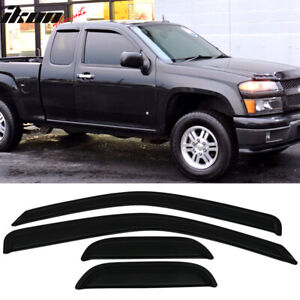 Fits 04 12 Chevy Colorado Gmc Canyon Extended Cab Acrylic Window Visors 4pc Set