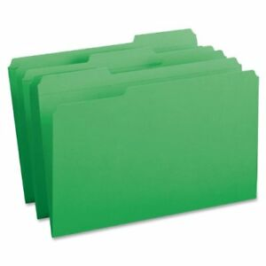 Smead 17134 Green Colored File Folders With Reinforced Tab Legal smd17134
