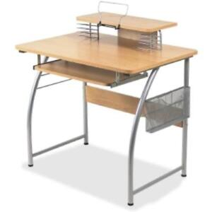 Lorell Upper Shelf Laminate Computer Desk Rectangle 23 60 X llr14337