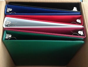 Assorted Colors Of Vinyl 3 ring Binders 1 inch For 8 5 X 11 Sheets 6 Pack