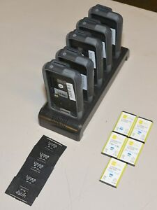 Lot Of 5 Linea Pro Lp4 Barcode Scanners With Charger Stand Batteries