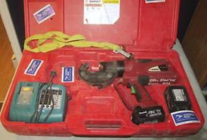 Burndy Patriot Pat750 li Hydraulic Battery Operated Crimper 12 Ton 18v Kit