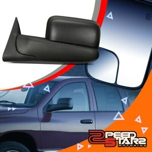 Left Side Powered Adjustment Towing camper Mirror W heated For 02 09 Dodge Ram