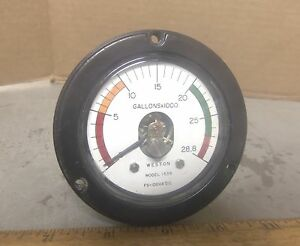 Weston Model 1539 Fs 100ua Dc Gallons X 1000 Meter Gauge P n 196106