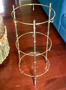 26 Vtg Metal Faux Bamboo Plant Display Stand Mcm Chinoiserie Hollywood Regency