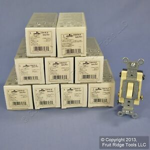 10 Leviton Ivory 4 way Commercial Toggle Wall Light Switches 15a Cs415 2i