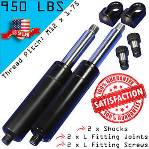 2 Bolt On Lambo Vertical Door Kit Shocks With 2 L Fittings Screws M12 950lbs