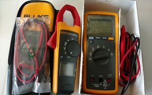 Fluke Lot Fluke 174 Digital Multimeter used Fluke 373 Clamp Meter used