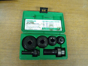 Greenlee Ball Bearing Knockout Punch Set 735bb With Case