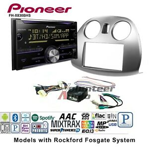 Pioneer Fh X830bhs Double Din Car Cd Stereo Radio Install Kit Bluetooth