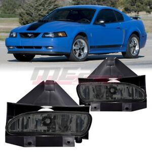 For 1999 2004 Ford Mustang Pair Oe Factory Fit Fog Light Bumper Smoke Lens