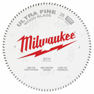 Milwaukee 48 40 1228 12 In 100t Ultra Fine Finish Circular Saw Blade New
