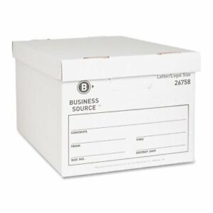 Business Source File Storage Box Stackable Medium Duty 10 bsn26758