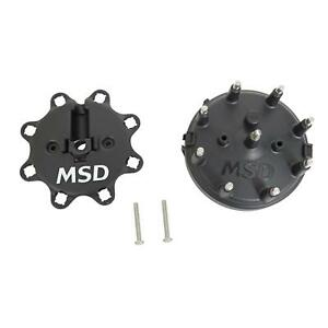 Msd Distributor Cap Male Hei Style Black Clamp Down Ford Msd Pro Billet V8 Ea