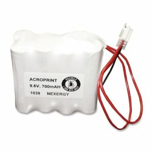 Acroprint Time Recorder Device Battery Nickel Cadmium nicd 580108000