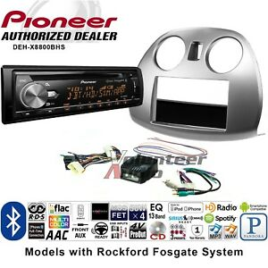 Pioneer Deh X8800bhs Single Din Car Cd Stereo Radio Install Kit Bluetooth