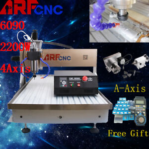New Usb 6090 2 2kw 4axis Cnc Router Cnc Engraver Milling Engraving Machine