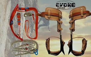 Tree Climbing Spike Set Pole Climbing Spurs Climber Adjustable Harness Lanyard