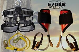 Tree Climbing Spike Set Aluminum Pole Spurs Climbers With Pro Harness Evoke Gear