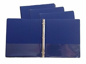 Blue Vinyl Standard 3 ring Binders 1 inch For 8 5 X 11 Sheets 4 Pack