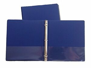Blue Vinyl Standard 3 ring Binders 1 inch For 8 5 X 11 Sheets 2 Pack