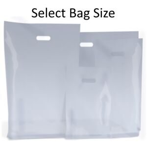 Clear Plastic Bags Gift Shop Carrier Bag Boutique Retail Small