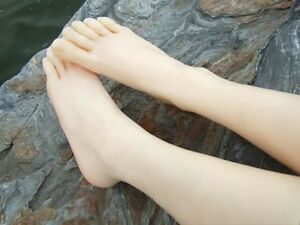 One Pair Silicone Lifesize Female Leg Foot Mannequin Shoes Display Size Us6