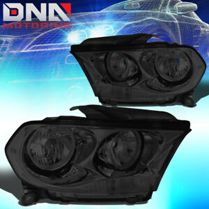 For 2011 2013 Dodge Durango Pair Smoked Housing Clear Side Headlight Lamps Lh Rh