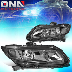 For 2012 2015 Honda Civic Black Housing Clear Corner Headlight lamp Left right