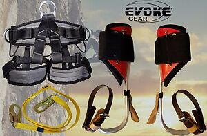 Tree Climbing Spike Set aluminum Pole Spurs Climbers Pro Harness New Evokegear