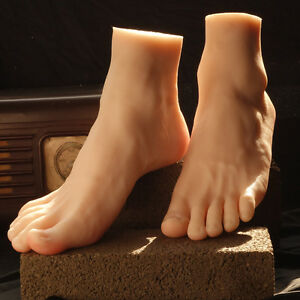 Top Quality Silicone Lifelike Male Foot Model Shoes Mannequin Display Art Sketch
