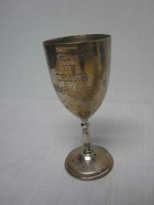 Vtg 1984 Mexico Sterling Silver 7 Tennis Trophy Cup Engraved Torneo De Tenis