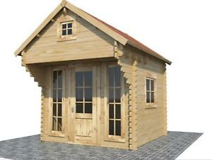 Build It Yourself Kit Of Tiny Timber Solid Pine Wood Cabin House Shed