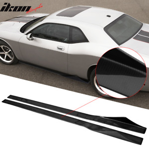 Fits 08 14 Challenger 81 Inches Side Skirts Extension Splitter Carbon Fiber Cf