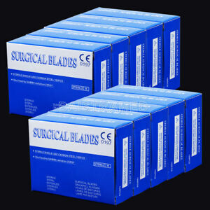 10box Carbon Steel Dental Surgical Scalpel Blades 11 4 3 0 6cm 100pcs box