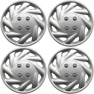 Hubcaps Fits 96 97 Toyota Corolla 14 Inch Silver Replacement Wheel Cover Rim