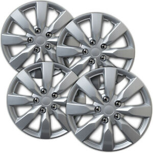 Hubcaps Fits 14 16 Fiat 500 16 Inch Silver Replacement Wheel Cover Rim