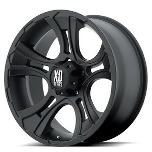 18 Inch Black Wheels Rims Jeep Wrangler Jk Xd Series Crank Xd801 Set Of Five