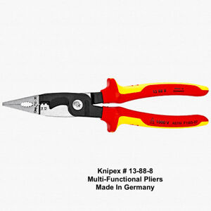 Knipex Multifunction Ipliers For Electrical Installation Insulated Germany