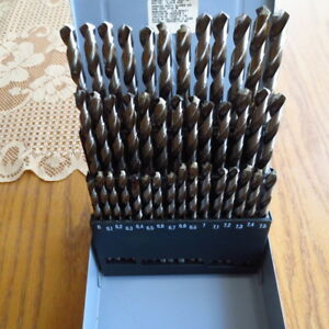 41 pc Precision Twist Drill Metric High Speed Drill Set made In Uk Usa