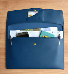 Extra Opening Clutch Bag Document Case Student A4 Paper Card Pocket Pen Holder