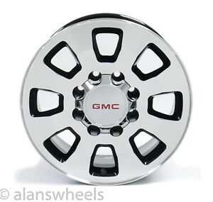 4 New Gmc Sierra Hd 2500 3500 8x180 18 Machined Black Wheels Rims Lug Nuts 5501