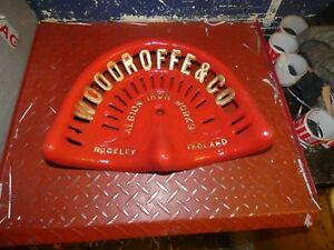 Reduced Vintage Rare Antique Albion Woodroff Rudgeley Tractor Implement Seat