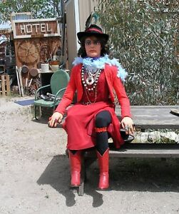 Floozy Mannequin Life Size Poseable Old West Saloon Girl Mannequin