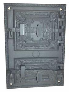 Cast Iron Fire Door Clay Bread Oven Pizza Stove Fireplace Grey Pz 41 5 X 29 5